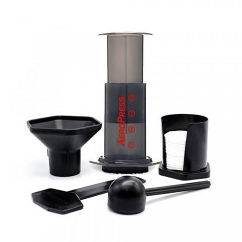 Cafetières Aeropress + 350 filtres + sac rangement